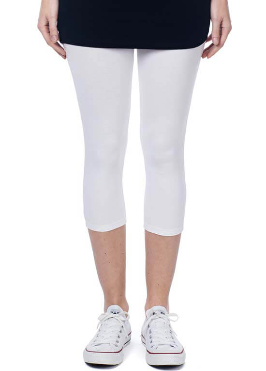Queen Bee Amsterdam Maternity Capri Legging in White by Noppies
