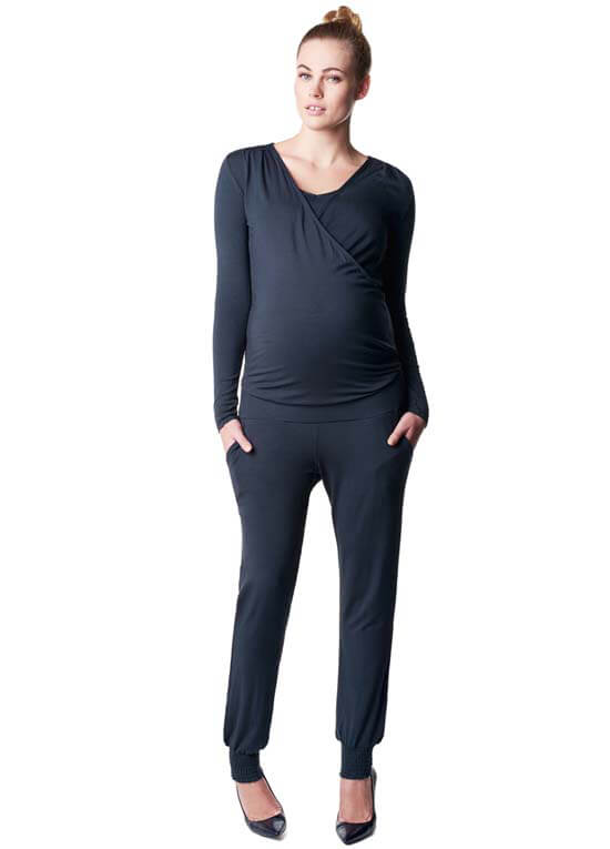 Queen Bee Luca Maternity Nursing Jumpsuit in Dark Blue by Noppies