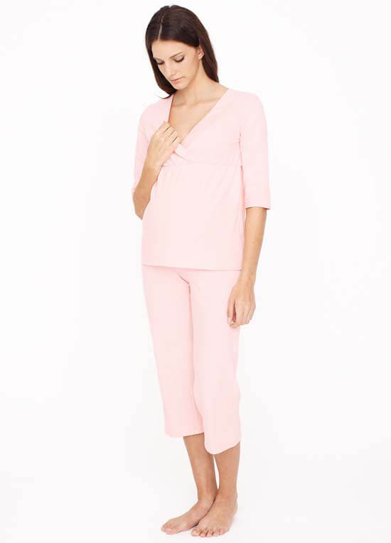 Queen Bee Pink Maternity Nursing Pyjama Set by Dote Nursingwear
