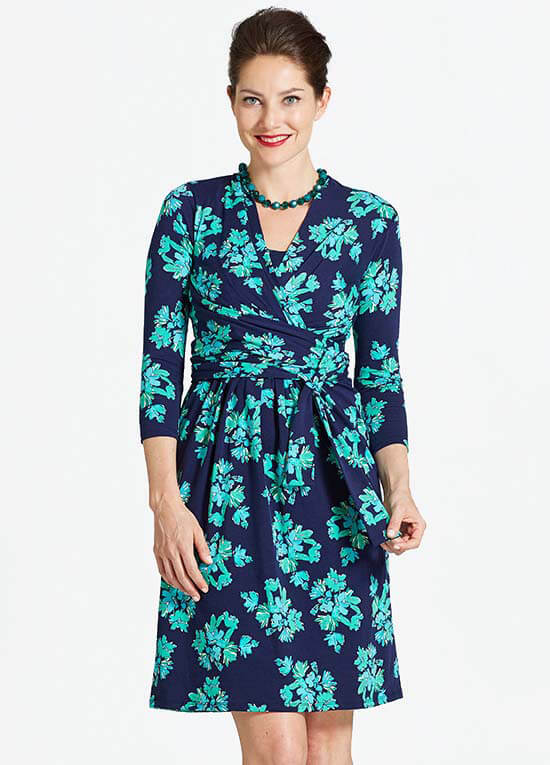 Queen Bee Theory Maternity Nursing Dress in Blue Floral by Milky Way