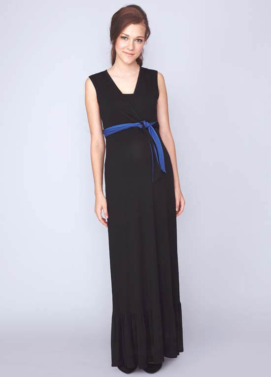 Queen Bee Billie Nursing Maxi Dress in Black by Dote Nursingwear