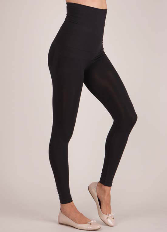 Post Maternity Leggings In Black By Seraphine