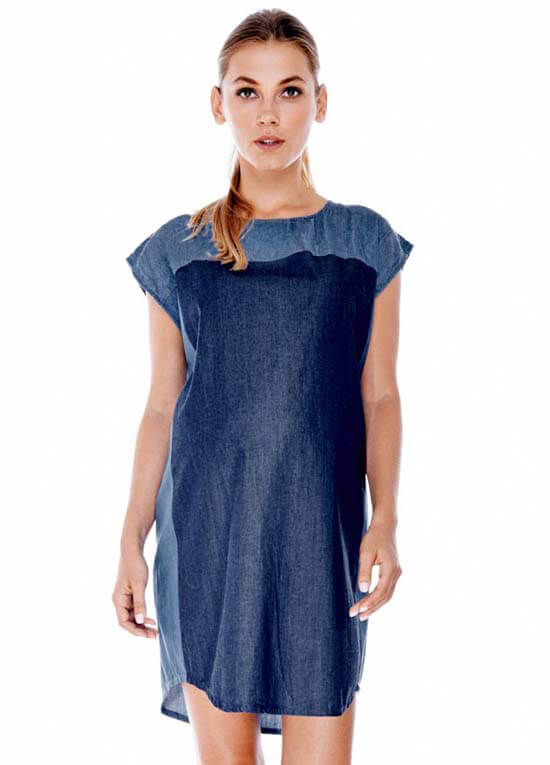 Queen Bee Tanya Chambray Maternity Dress by Imanimo