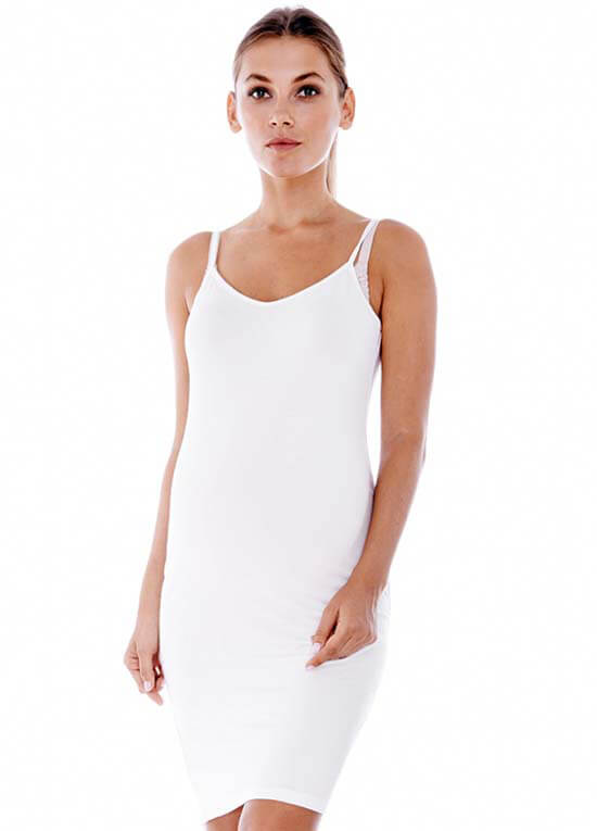 Queen Bee White Maternity Slip Dress by Imanimo