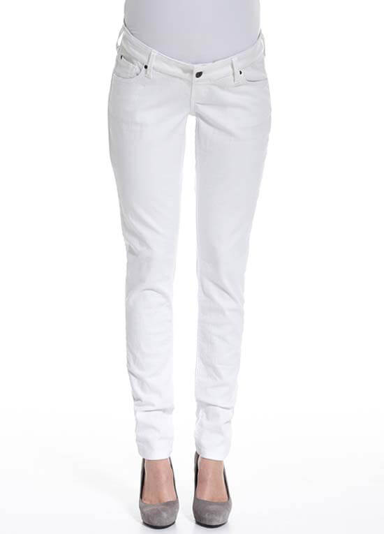 Queen Bee White Slim Fit Maternity Denim Jeans by Queen mum
