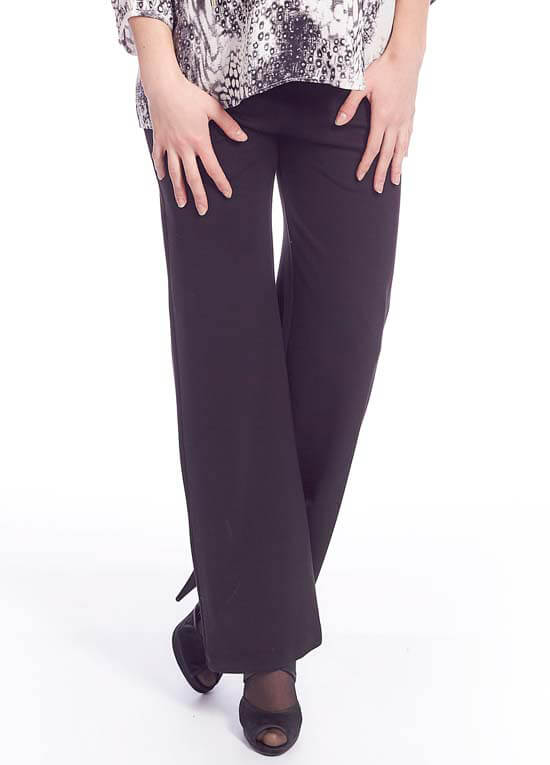 Queen Bee Flared Ponte Maternity Pants in Black by Queen mum
