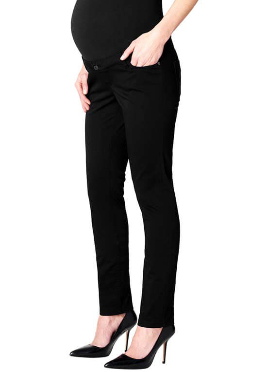 Queen Bee Slim Fit Stretch Maternity Trousers in Black by Esprit