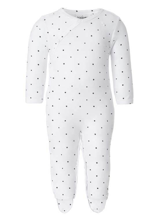 Queen Bee Riche Newborn Playsuit in White Stars by Noppies Baby