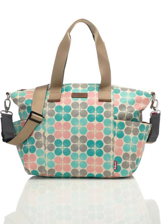 Queen Bee Evie Baby Nappy Tote Bag in Pastel Floral Dot by Babymel