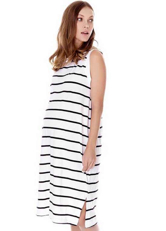 Queen Bee Reine Relaxed Maternity Tank Dress by Imanimo