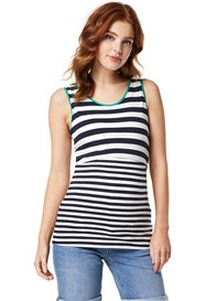 Queen mum - Mix Stripe Nursing Tank Top