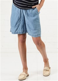 Queen mum - Relaxed Linen Shorts in Blue