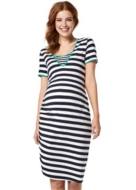 Queen mum - Striped Nursing Tee Dress