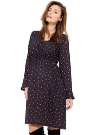 Queen mum - Tiny Birds Print Nursing Dress - ON SALE