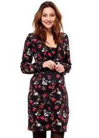 Queen mum - Floral Nursing Dress