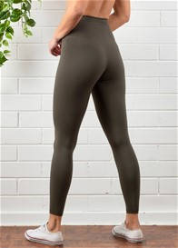 QueenBee® - Aura Postnatal Active Leggings in Olive