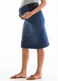 QueenBee® - Denim Skirt in Blue Wash