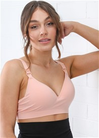 QueenBee® - Harper Nursing Bra in Salmon Pink