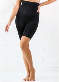 QueenBee® - High Waist Postpartum Shorts in Black