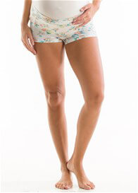 QueenBee® - Sabella Under Bump Briefs in Turquoise Floral