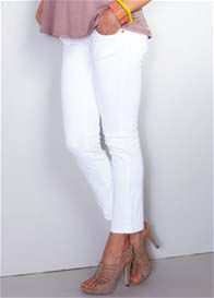 Maternal America - White Skinny Ankle Jeans - ON SALE
