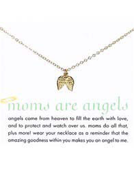 Dogeared - Moms Are Angels Necklace w Angel Wings Charm