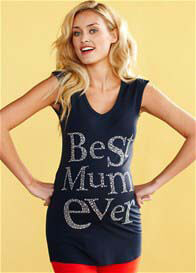 Queen mum - Best Mum Ever Tee in Blue - ON SALE