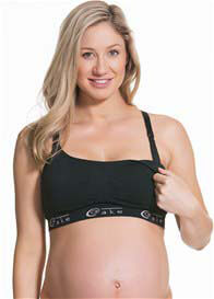 Cake Maternity - Black Cotton Candy Nursing Bra