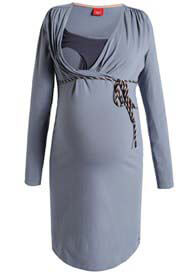 Esprit - Long Sleeve Nursing Dress in Stonegrey - ON SALE