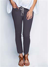 Maternal America - Cement Grey Skinny Ankle Jeans