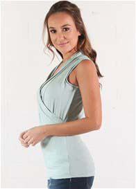 Floressa - Mia Sleeveless Nursing Top in Aloe