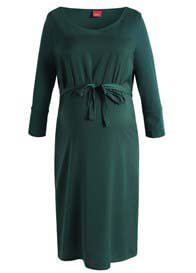 Esprit - Satin Front Dress in Peacock Green - ON SALE