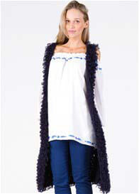 Fillyboo - Stay Gold Long Vest in Navy