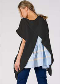 Fillyboo - Its A Wrap Feeding Knit Top in Black