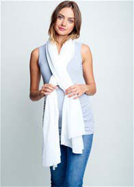 Maternal America - Nursing Scarf in White