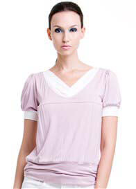 Dote - Slate Nursing Top in Lilac - ON SALE