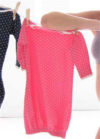 Belabumbum - Dottie Baby Sleep Suit in Cerise Polkadot