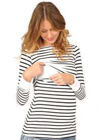Quack Nursingwear - Jake Striped Nursing Top - ON SALE