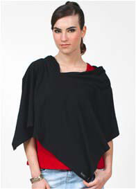 Dote - Compact Nursing Shawl in Black