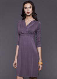 Dote - Twinkle Long Sleeve Nursing Dress in Grey