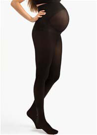 Blanqi - Opaque Belly Support Maternity Tights in Black