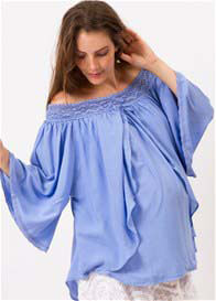 Fillyboo - As It Flows Nursing Top in Powder Blue - ON SALE