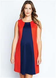 Maternal America - Pyramid Dress in Red/Navy - ON SALE