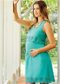 Maternal America - Scallop Dress in Mint - ON SALE