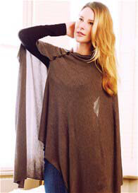 Seraphine - Breastfeeding Bamboo Shawl in Brown