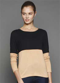 Dote - Faith Breastfeeding T-Shirt in Black/Camel - ON SALE
