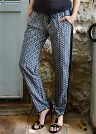 Seraphine - Patterned Trousers in Black Print