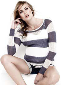 Noppies - Jacy Knit Jumper in Grey Stripes