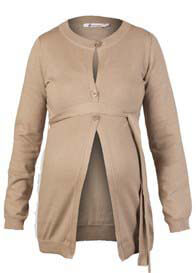 Queen mum - Cotton Knit Cardigan in Camel