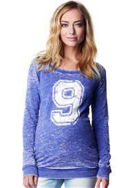 Supermom - Number 9 Sweat Shirt in Blue - ON SALE